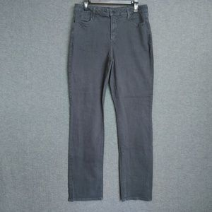 NYDJ  Straight Leg Jeans Gray Stretch